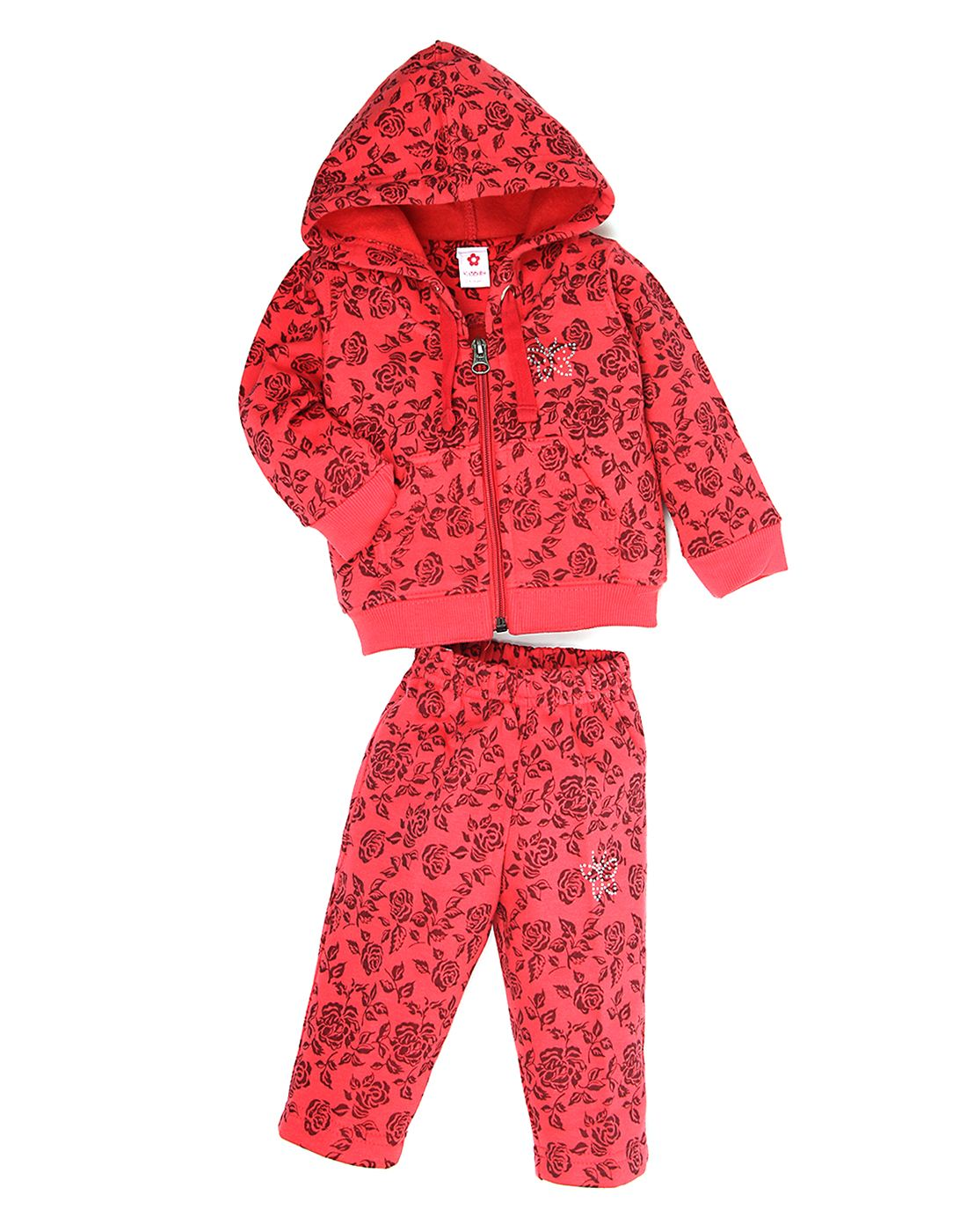 K.C.O 89 Girls Casual Printed Full Sleeves Track Suit