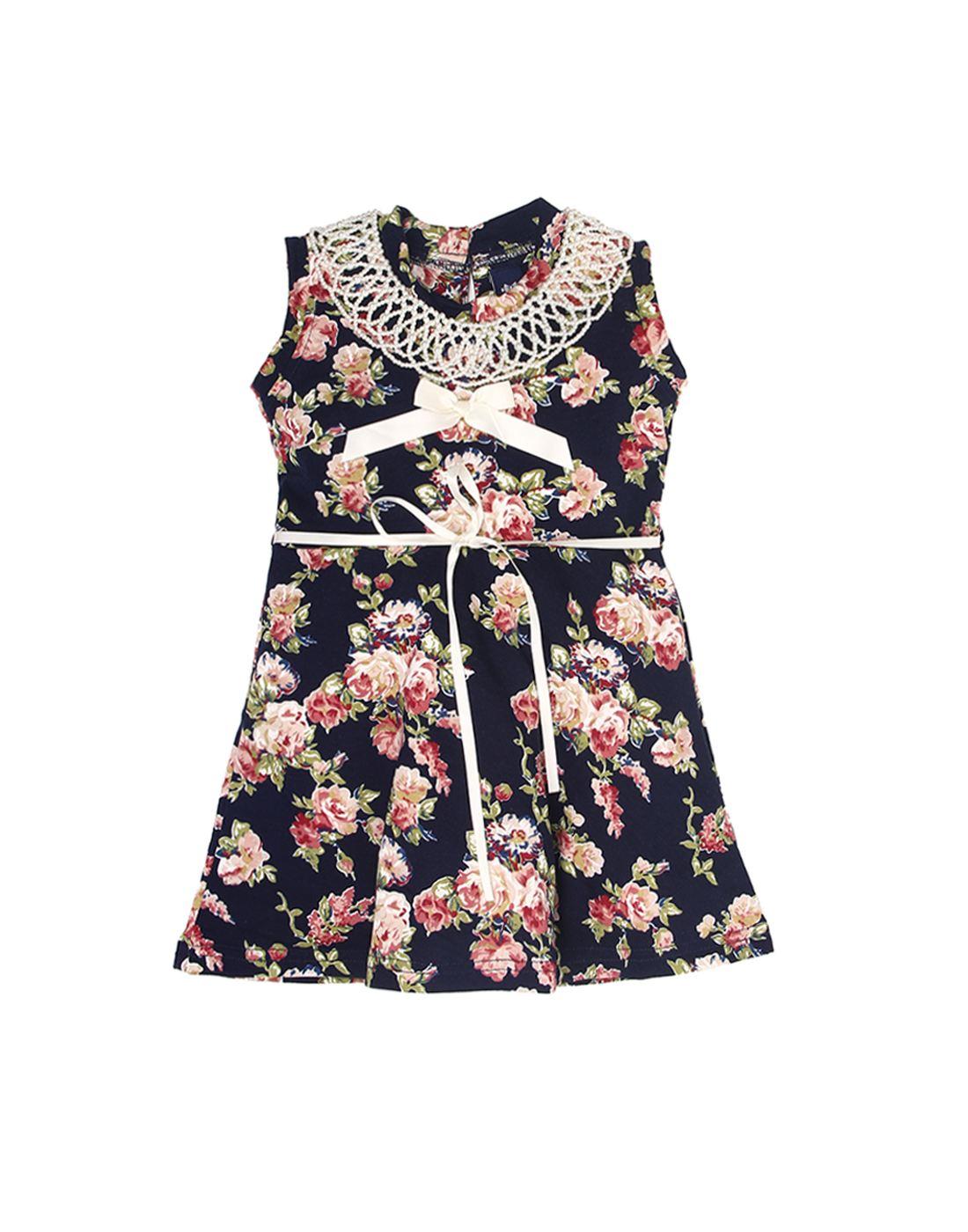 K.C.O 89 Girls Casual Printed Sleeveless Dress