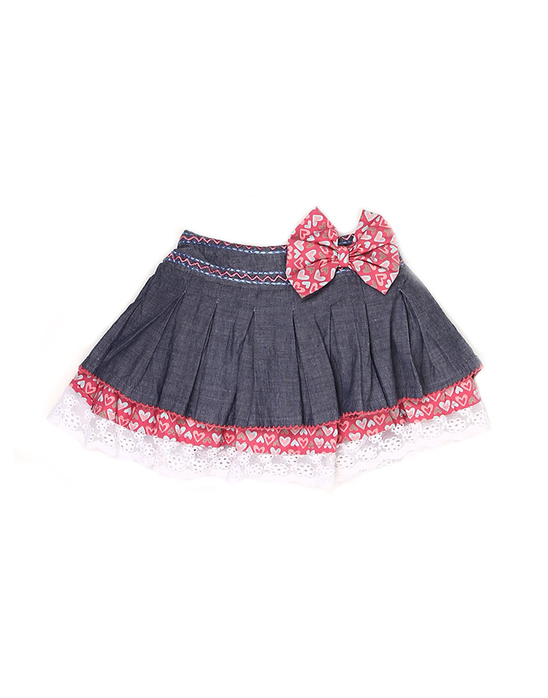 K.C.O 89 Girls Casual Solid  Skirt