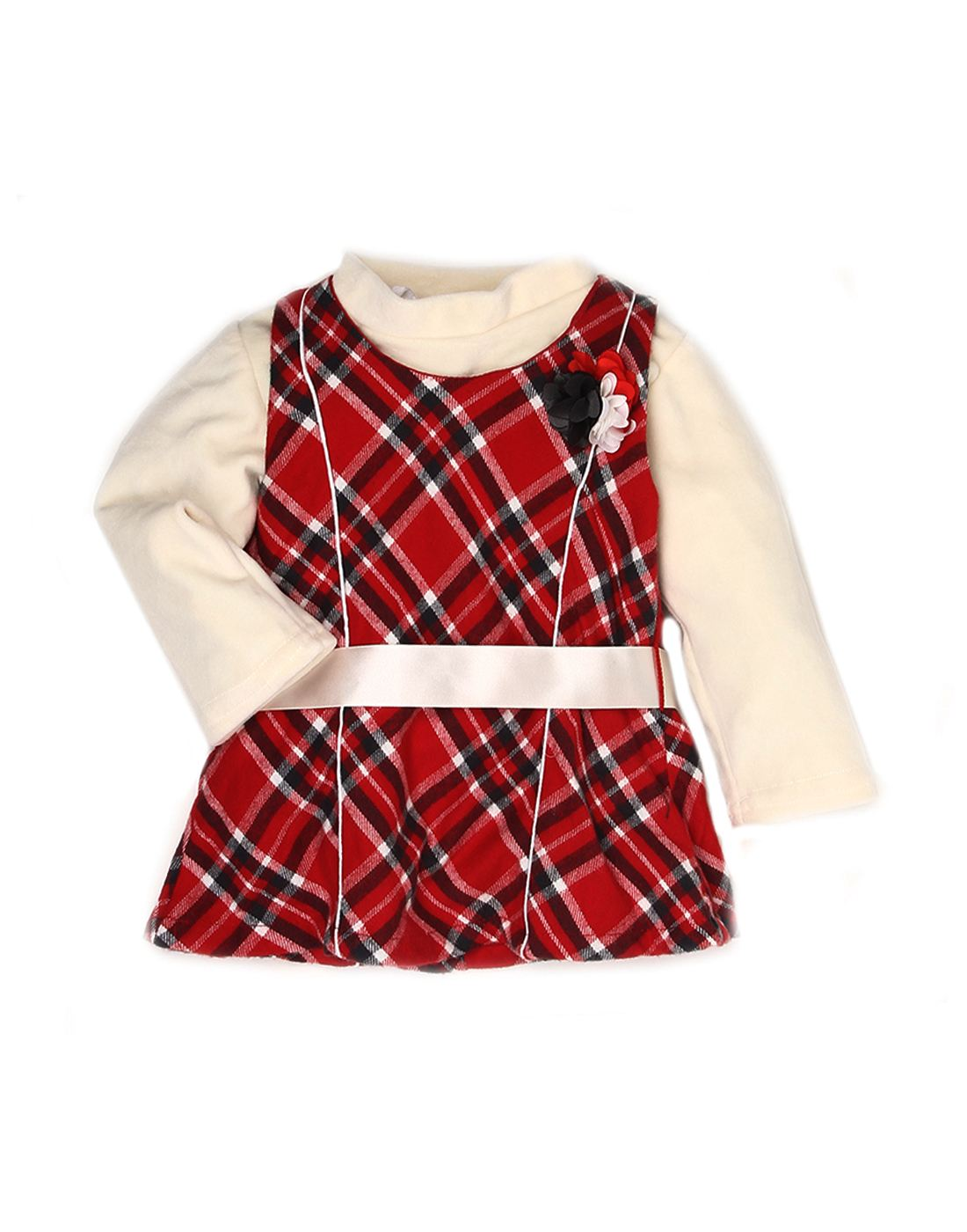 K.C.O 89 Girls Casual Checkered Full Sleeve Dress