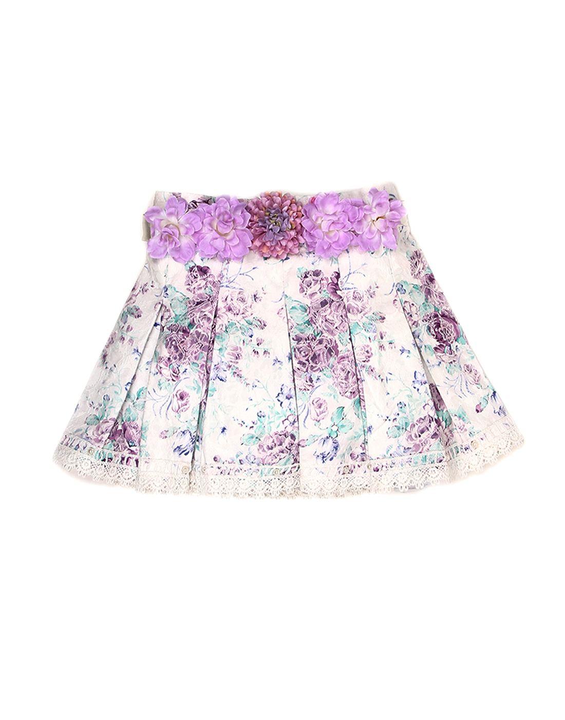 K.C.O 89 Girls Casual Printed  Skirt