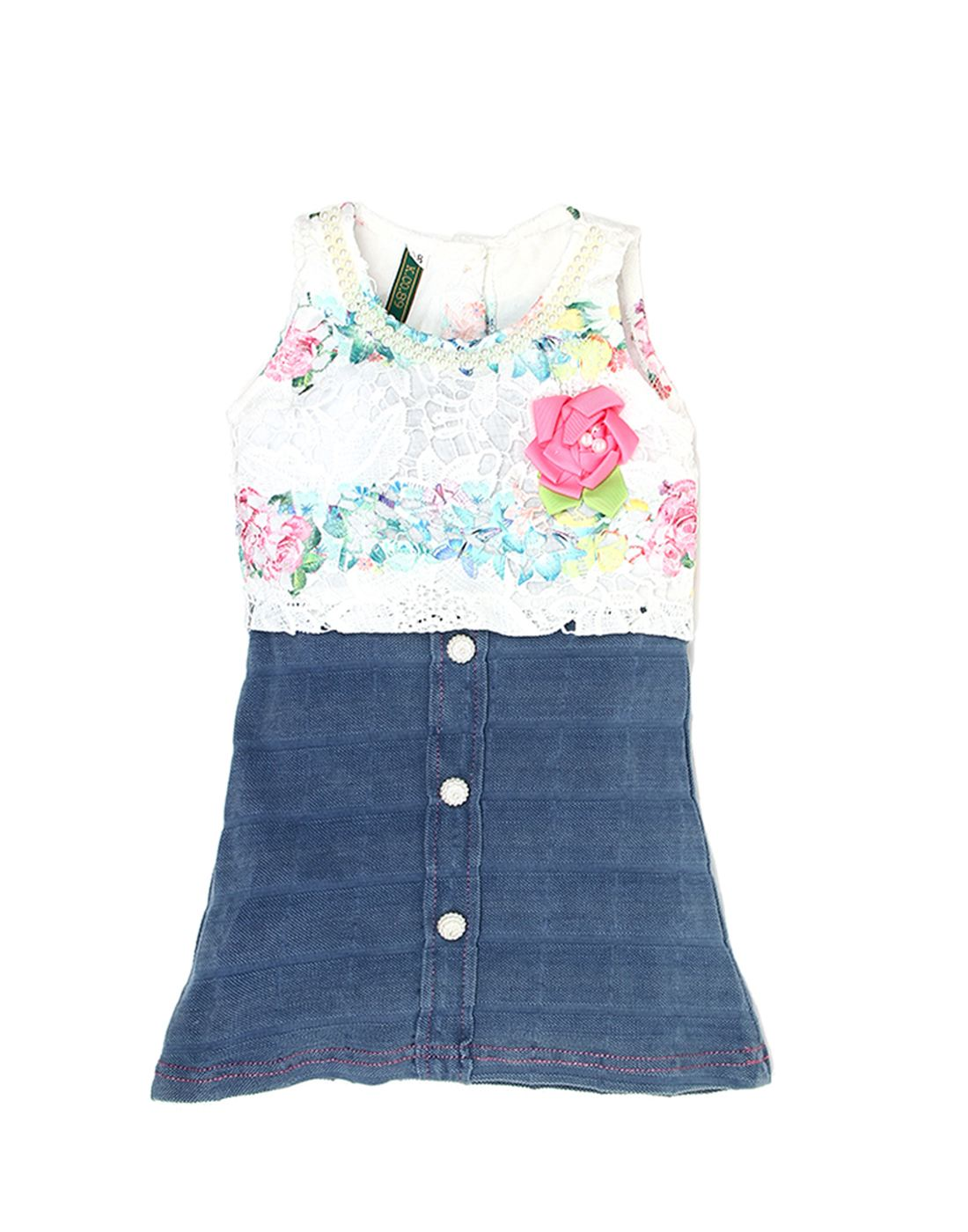 K.C.O 89 Girls Casual Solid Sleeveless Dress