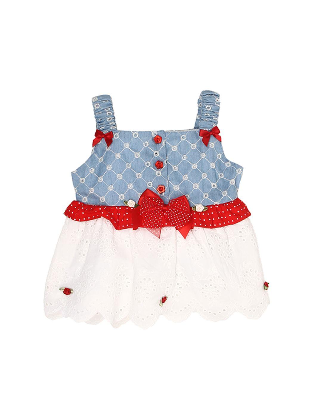 K.C.O 89 Baby Girls Party Printed Sleeveless Dress