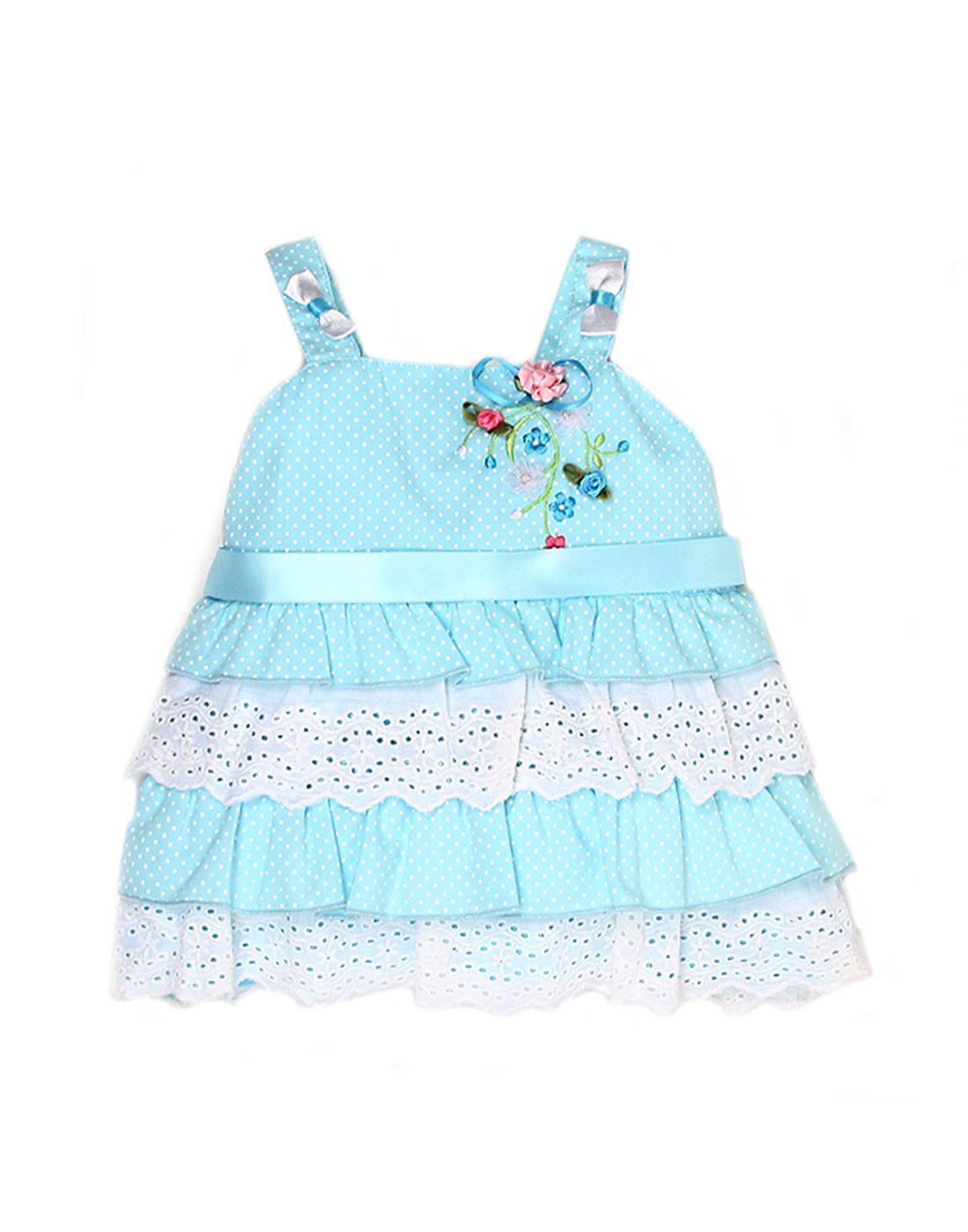 K.C.O 89 Baby Girls Casual Printed Sleeveless Frock