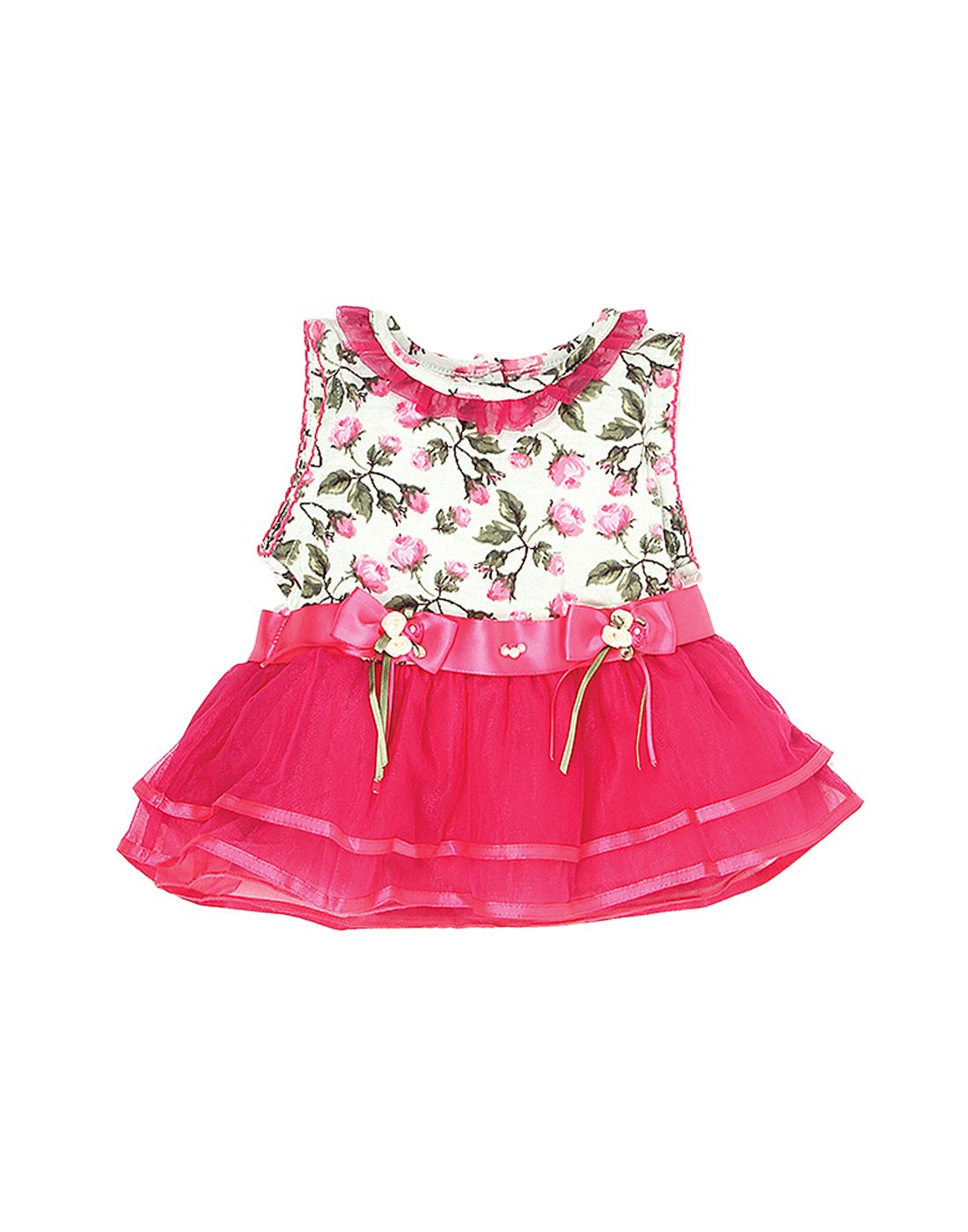 K.C.O 89 Baby Girls Party Floral Print Sleeveless Frock