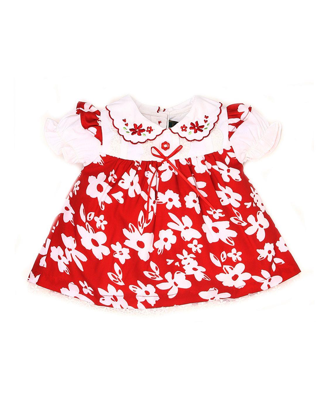 K.C.O 89 Baby Girls Casual Floral Print Half Sleeve Dress