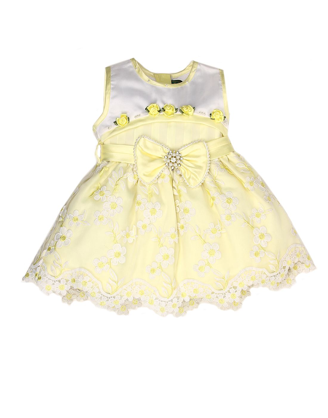 K.C.O 89 Infant Girls Party Wear Embellished Sleeveless Frock