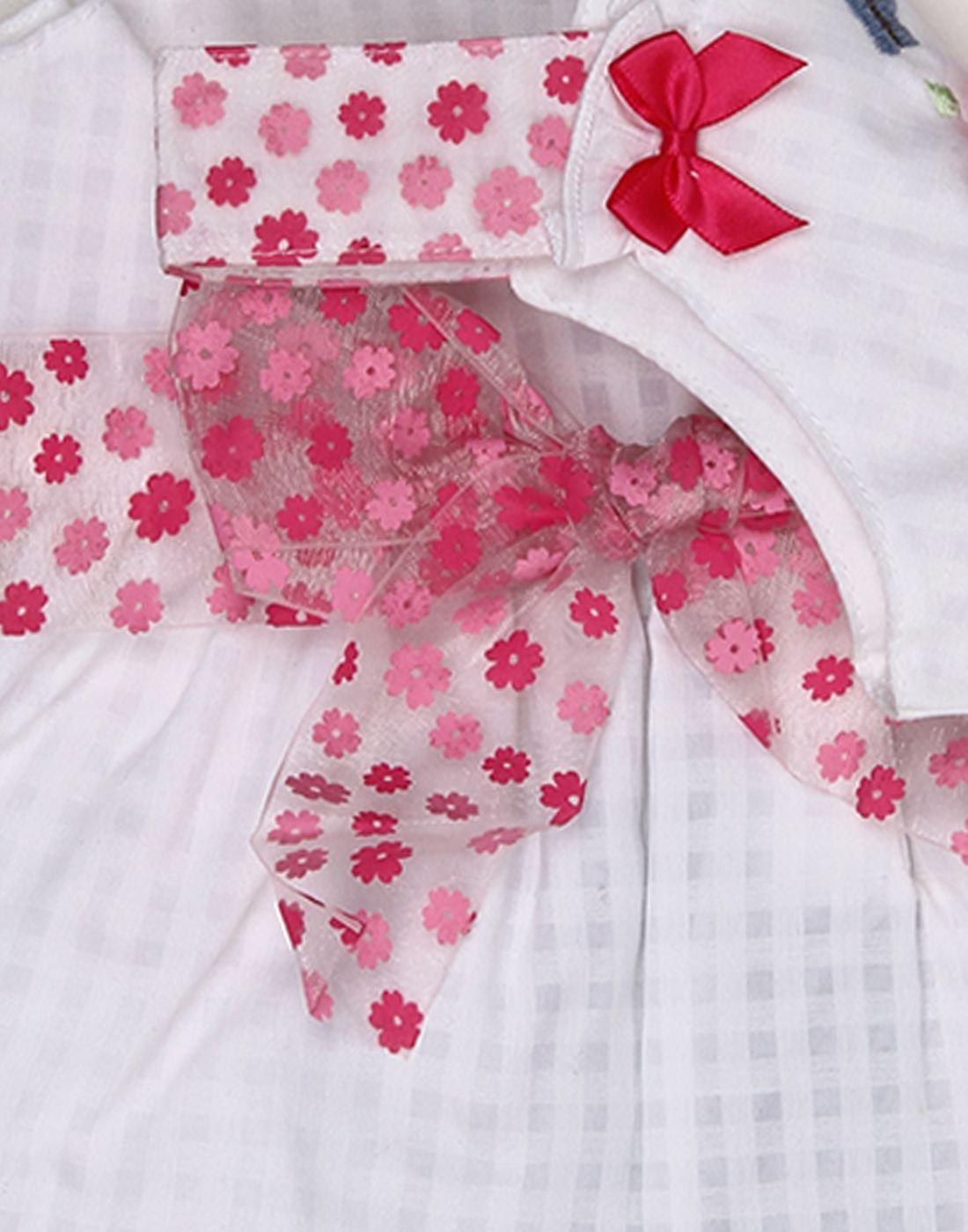 K.C.O 89 Baby Girls Casual Applique Sleeveless Frock