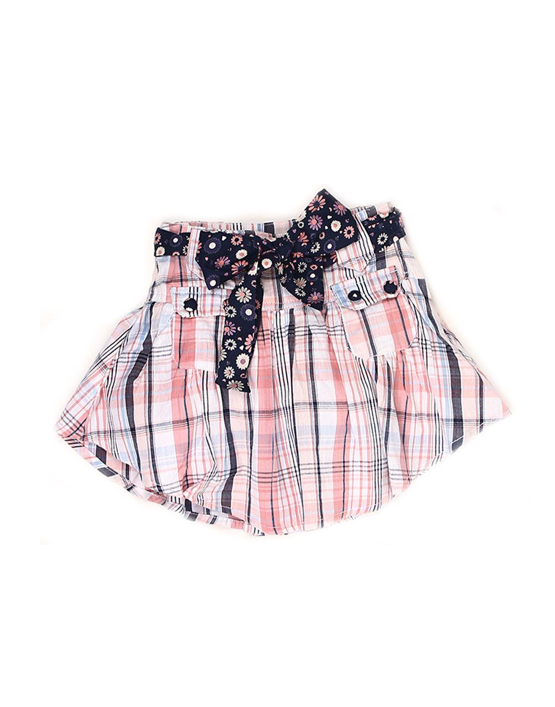 K.C.O 89 Girls Casual Checkered  Skirt