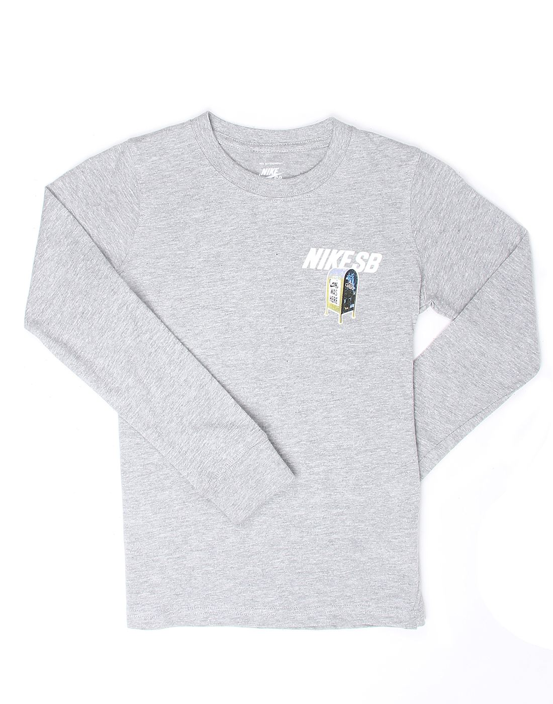 Nike Grey Cotton Boys T-Shirt