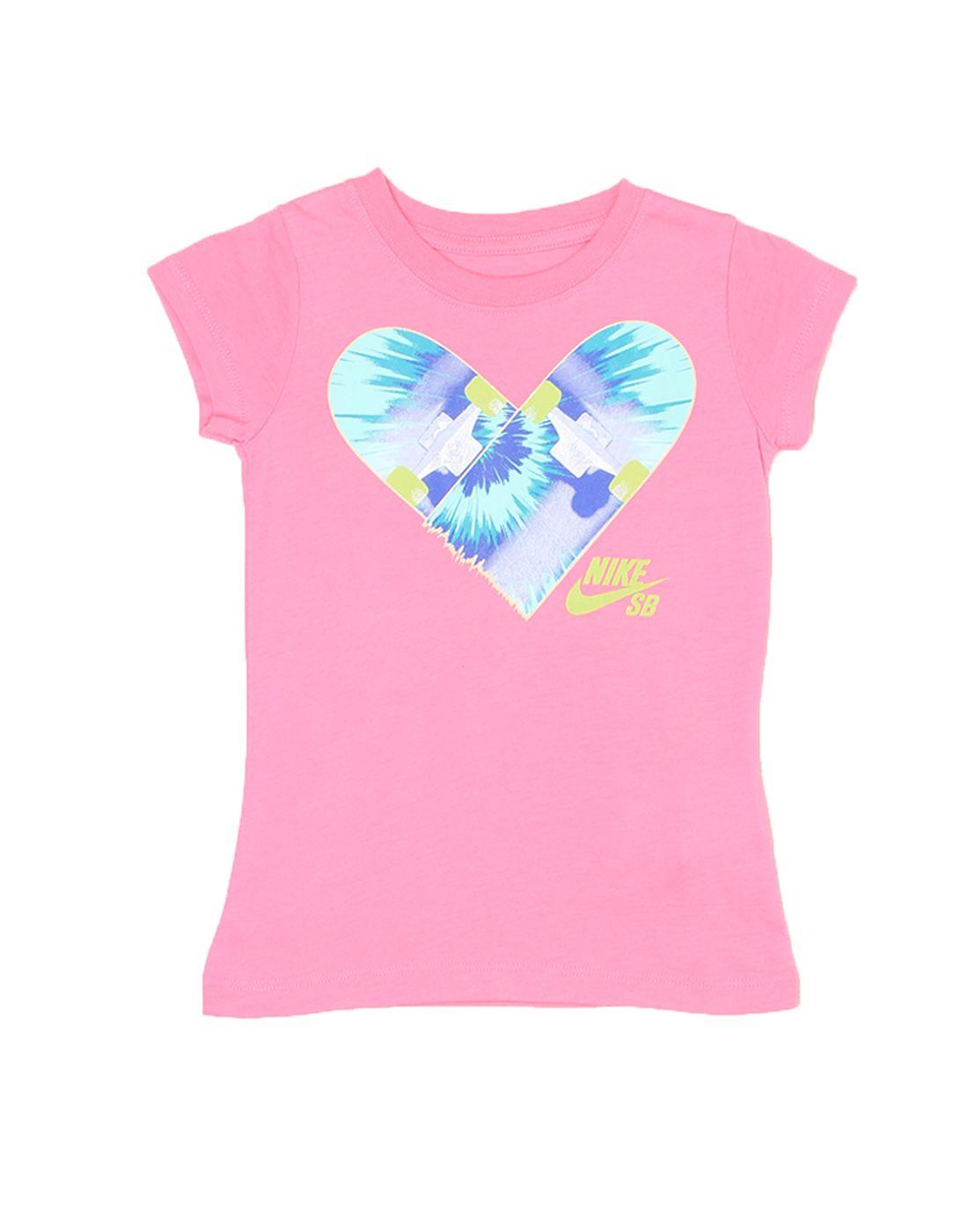 Nike Pink Cotton Girls Top