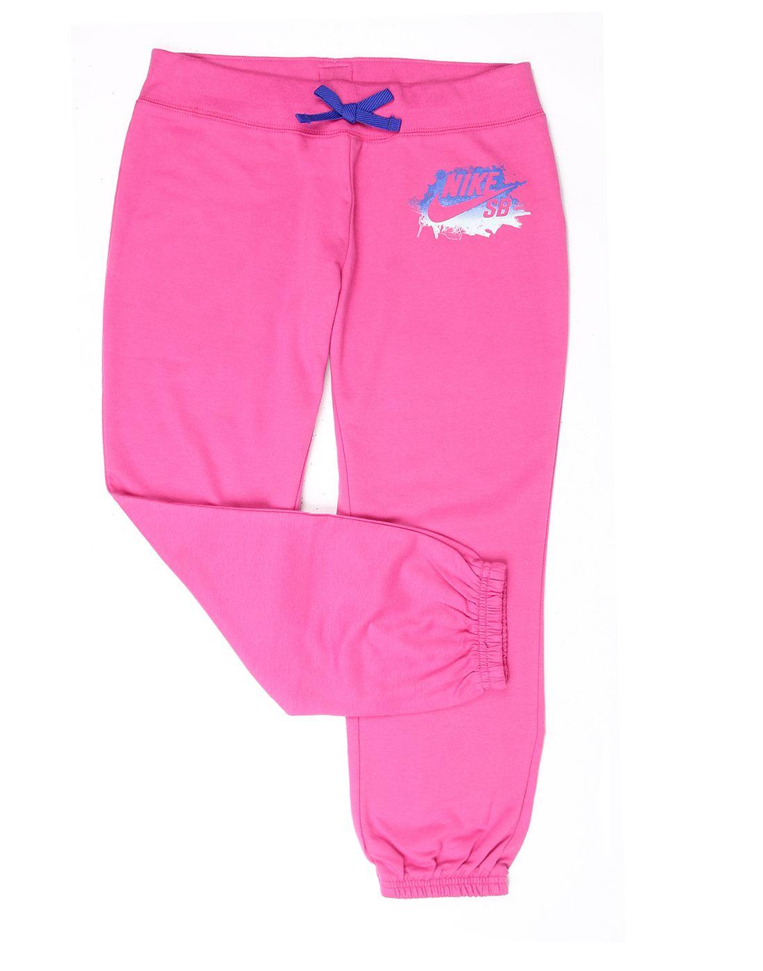 Nike Pink Cotton Girls Capri