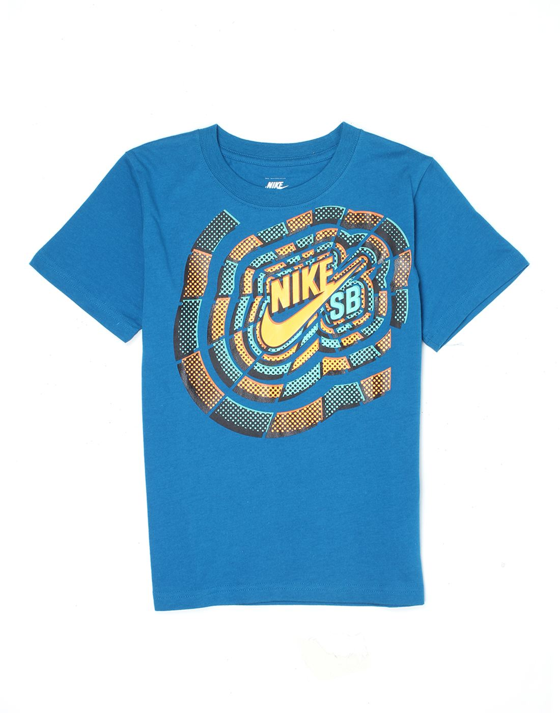 Nike Blue Cotton Boys T-Shirt