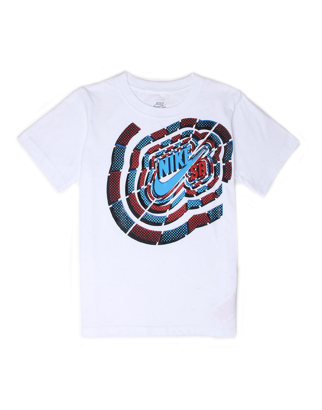 Nike White Cotton Boys T-Shirt