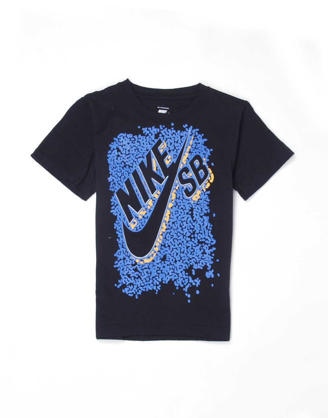 Nike Black Cotton Boys T-Shirt