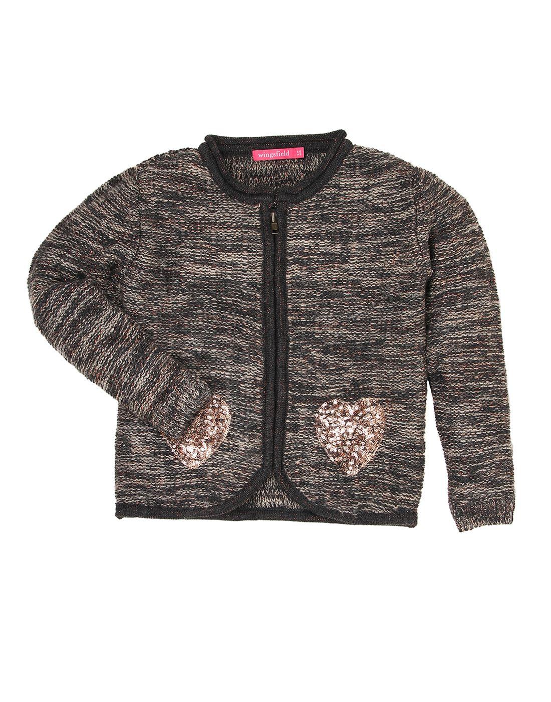 Wingsfield Grey Girl Winter Wear Sweater