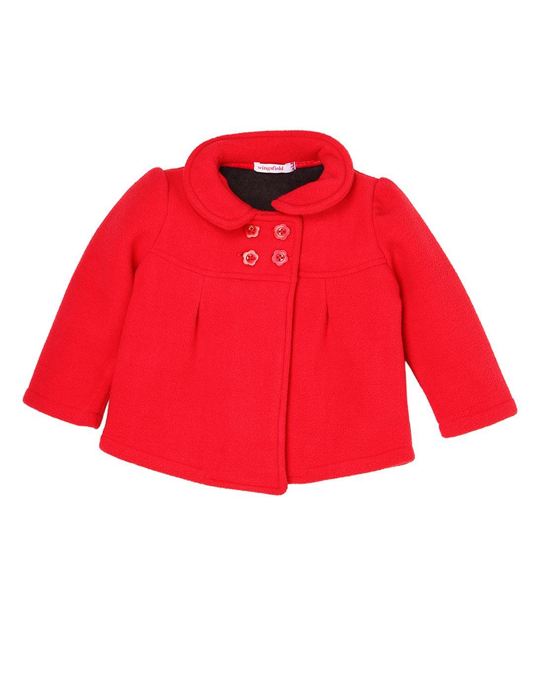 Wingsfield Red Baby Girl Winter Wear Coat