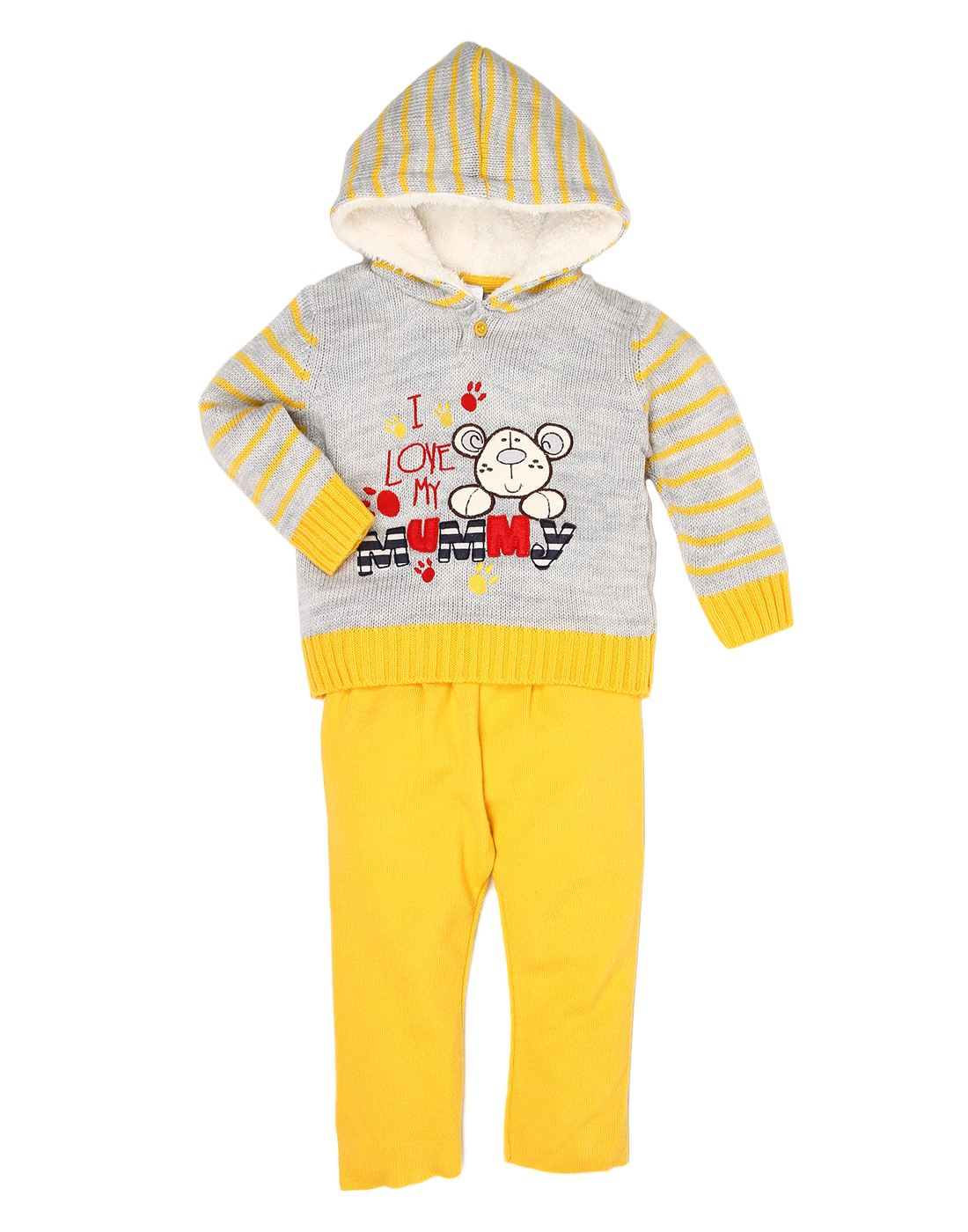 Wingsfield Yellow Baby Boy Combo Sets Top & Bottom Set