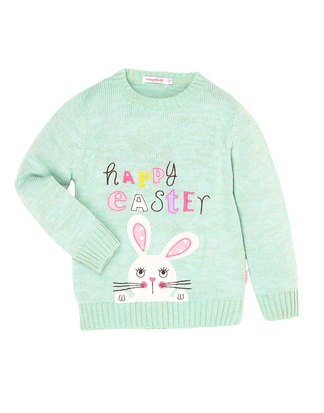 Wingsfield Green Baby Girl Winter Wear Sweater