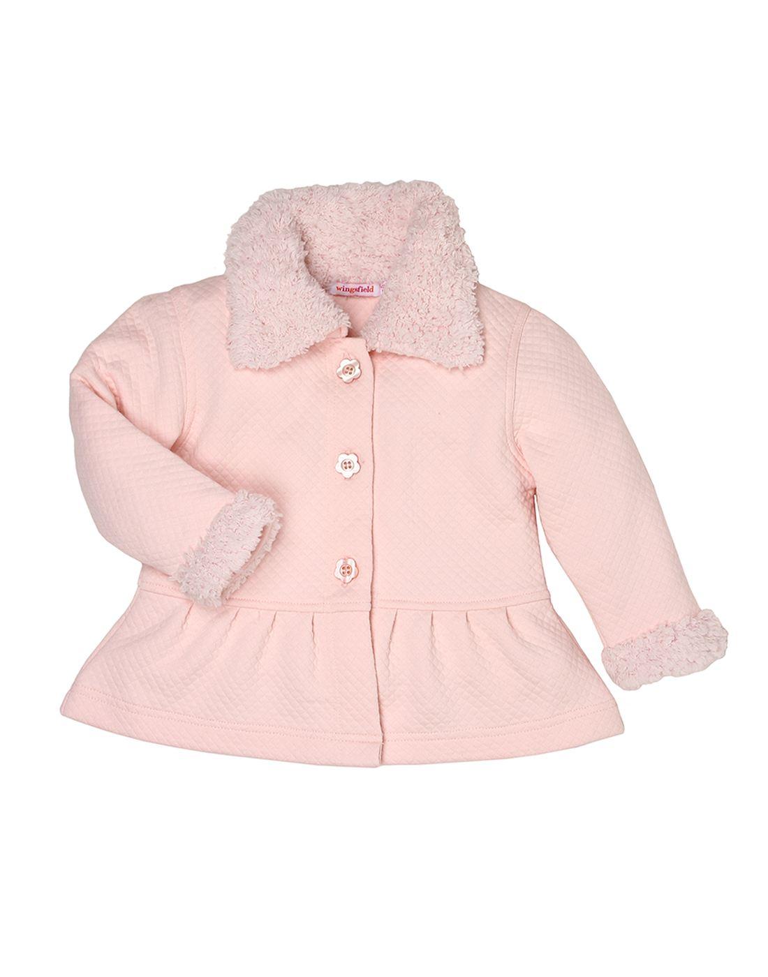 Wingsfield Pink Baby Girl Winter Wear Coat