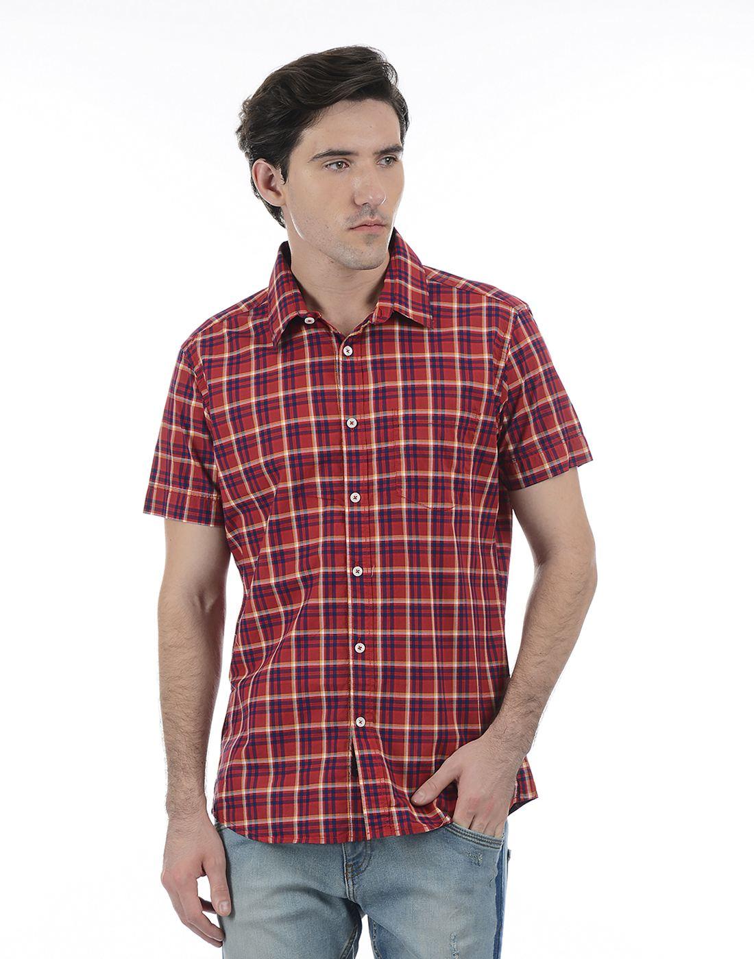 London Fog Men Red Shirt