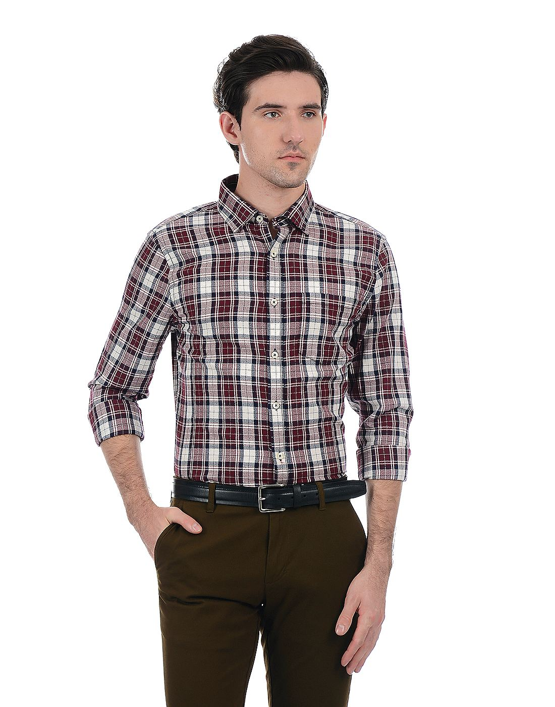 London Fog Men Maroon Shirt