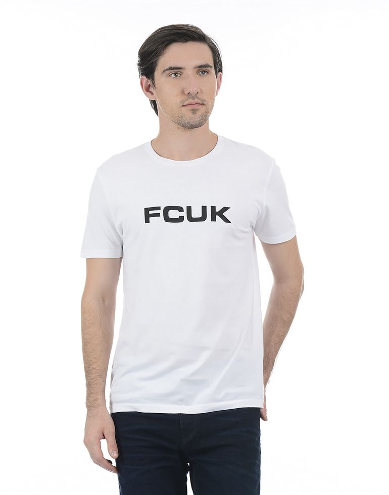 French Connection Men White T-Shirt