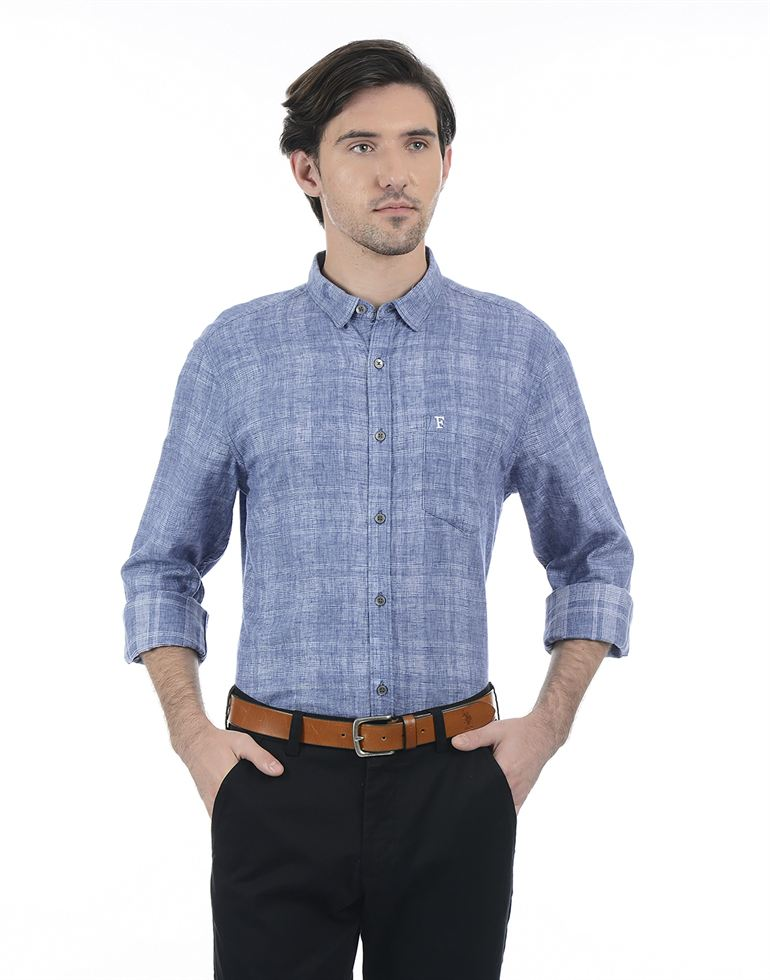 French Connection Men Blue Shirt