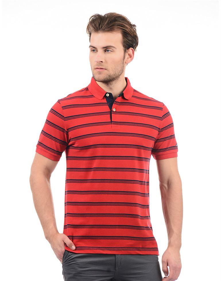 Arrow Sport Casual Striped Men T-Shirt