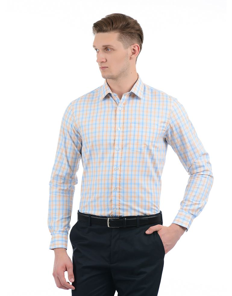 Arrow Men Blue Formal Shirt