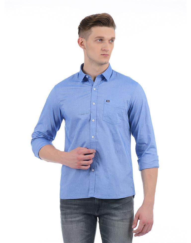 Arrow Sport Men Casual Wear Solid Shirt