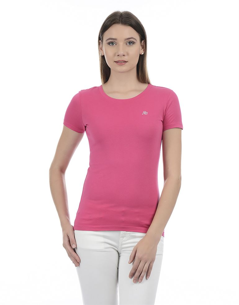 Aeropostale Women Solid Casual wear T-Shirt