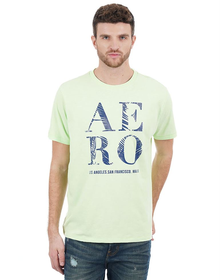 Aeropostale Men Green T-Shirt