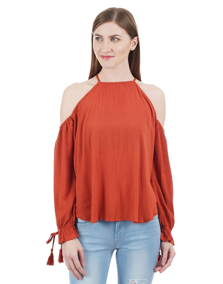 Aeropostale Women Orange Top
