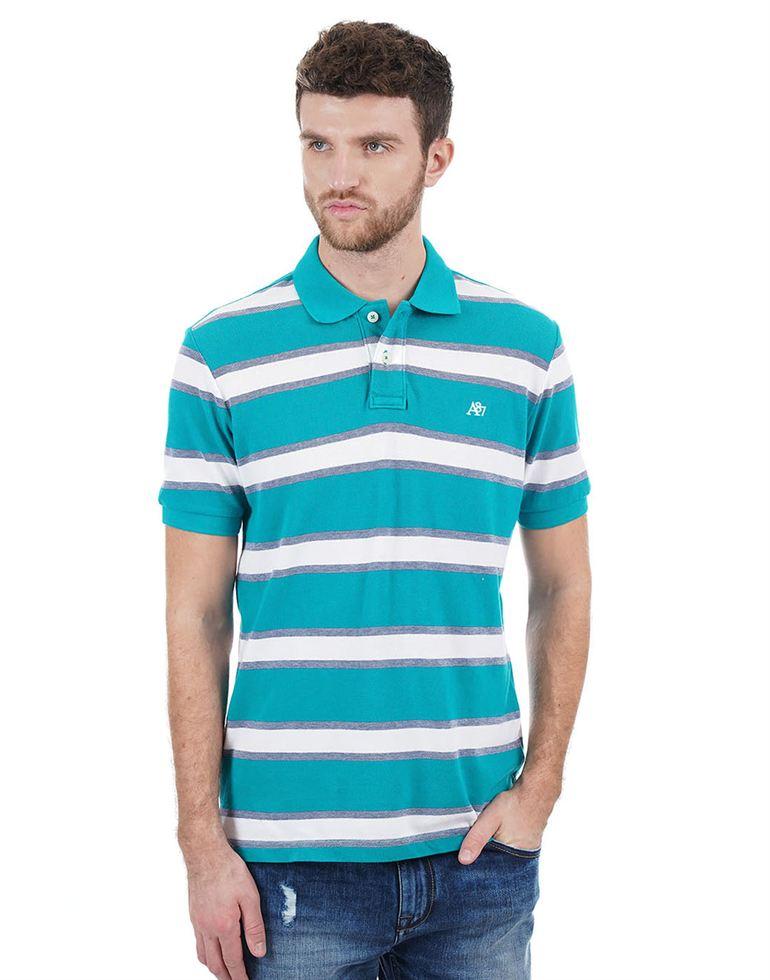 Aeropostale Casual Striped Men T-Shirt