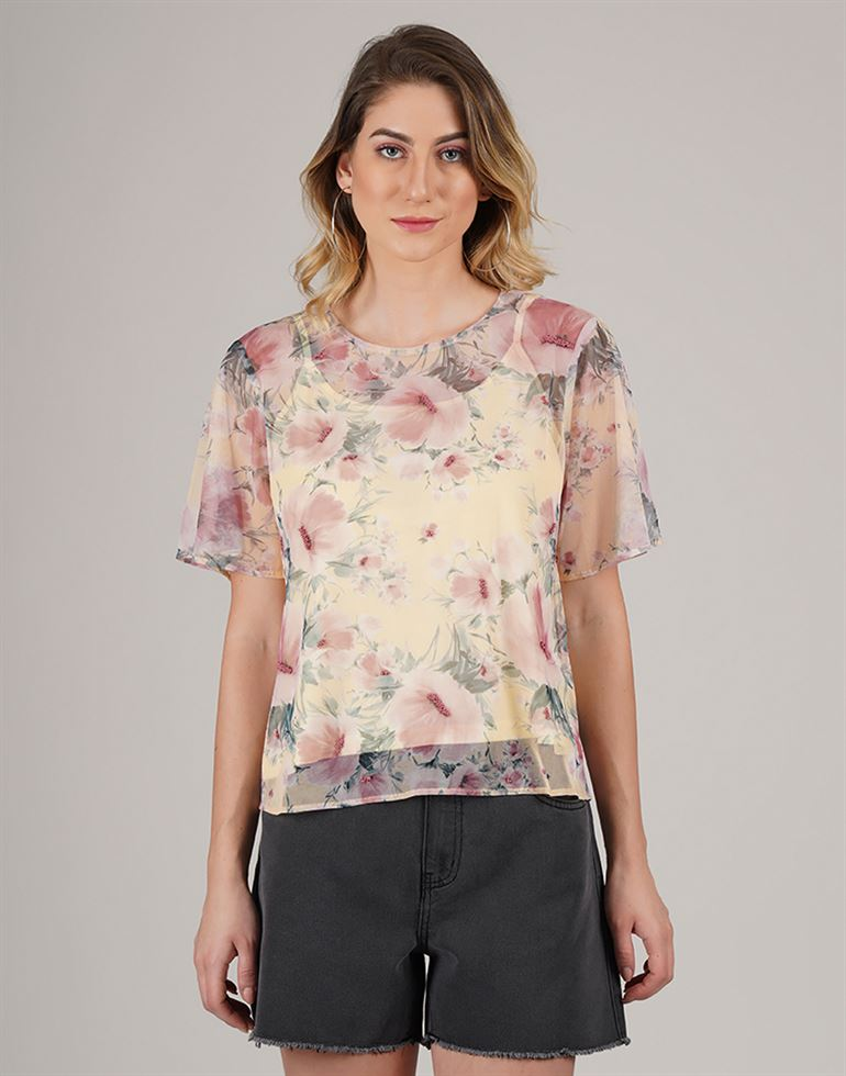 Cover Story Women Casual Wear Printed Top