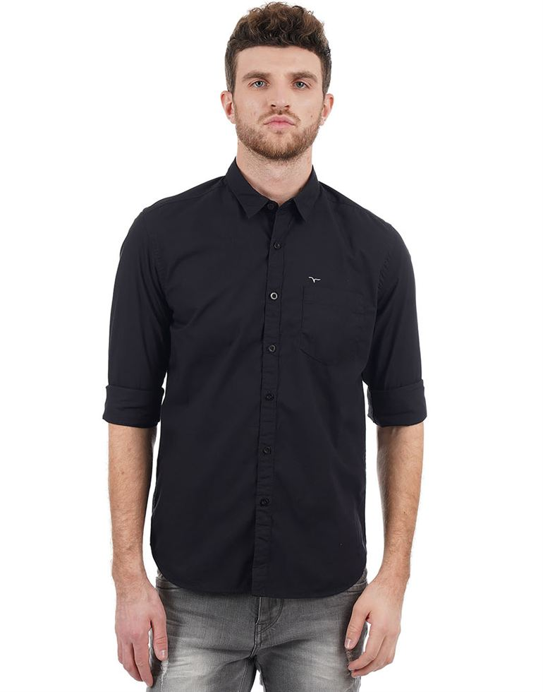 Flying Machine Casual Solid Men Shirt