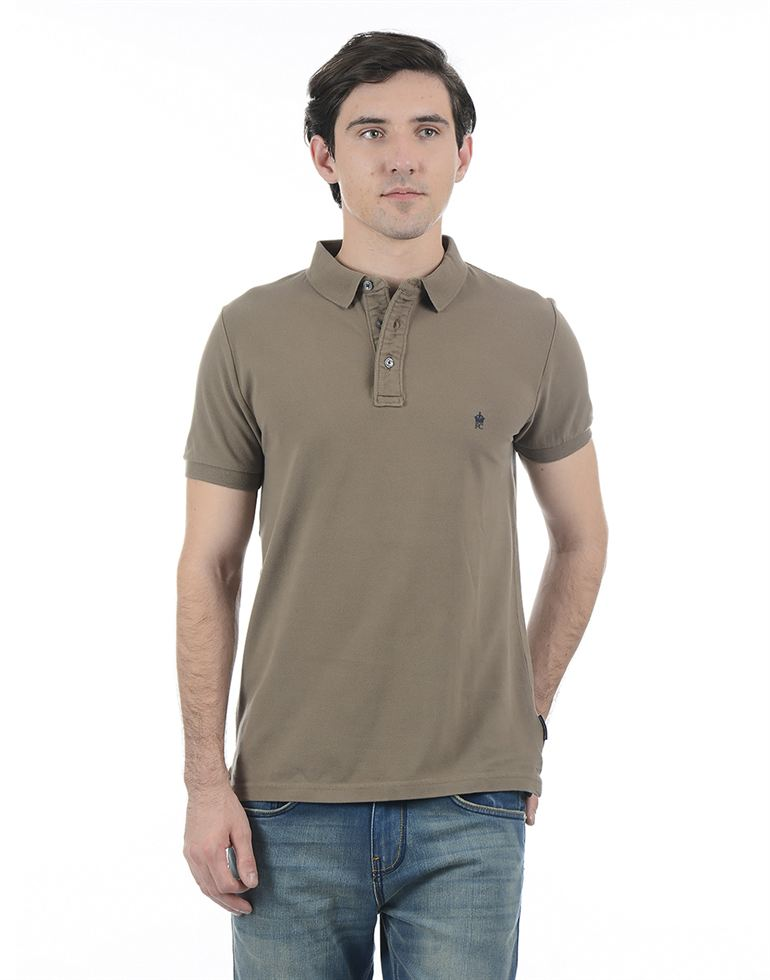 French Connection Men Beige Half Sleeves T-Shirt