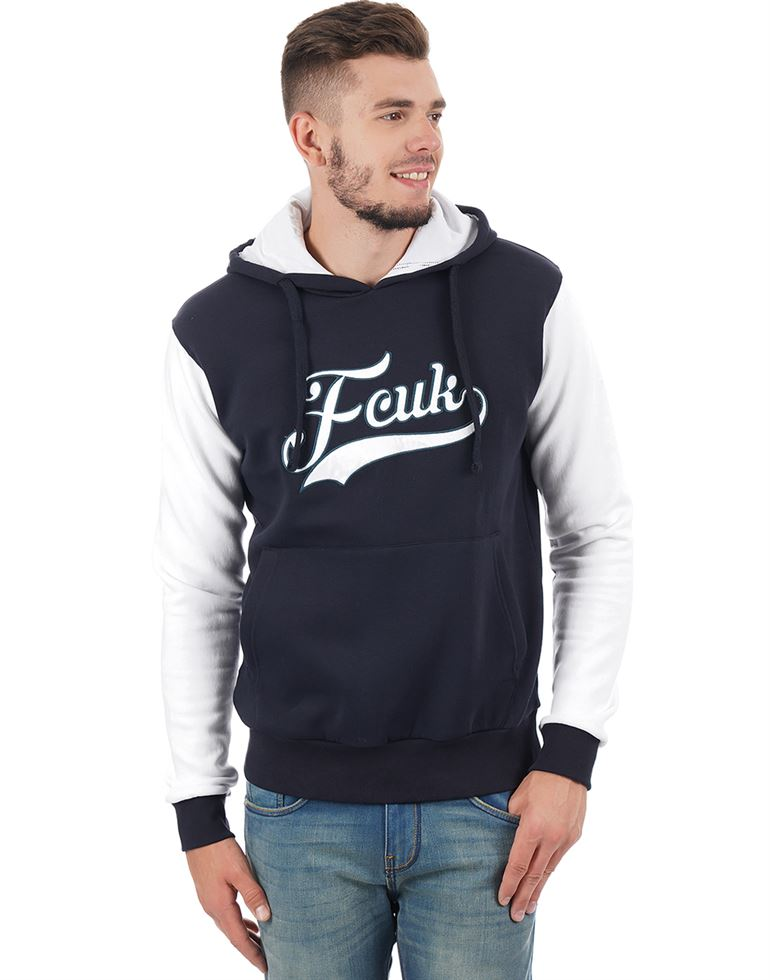 French Connection Men Casual Solid Sweatshirt