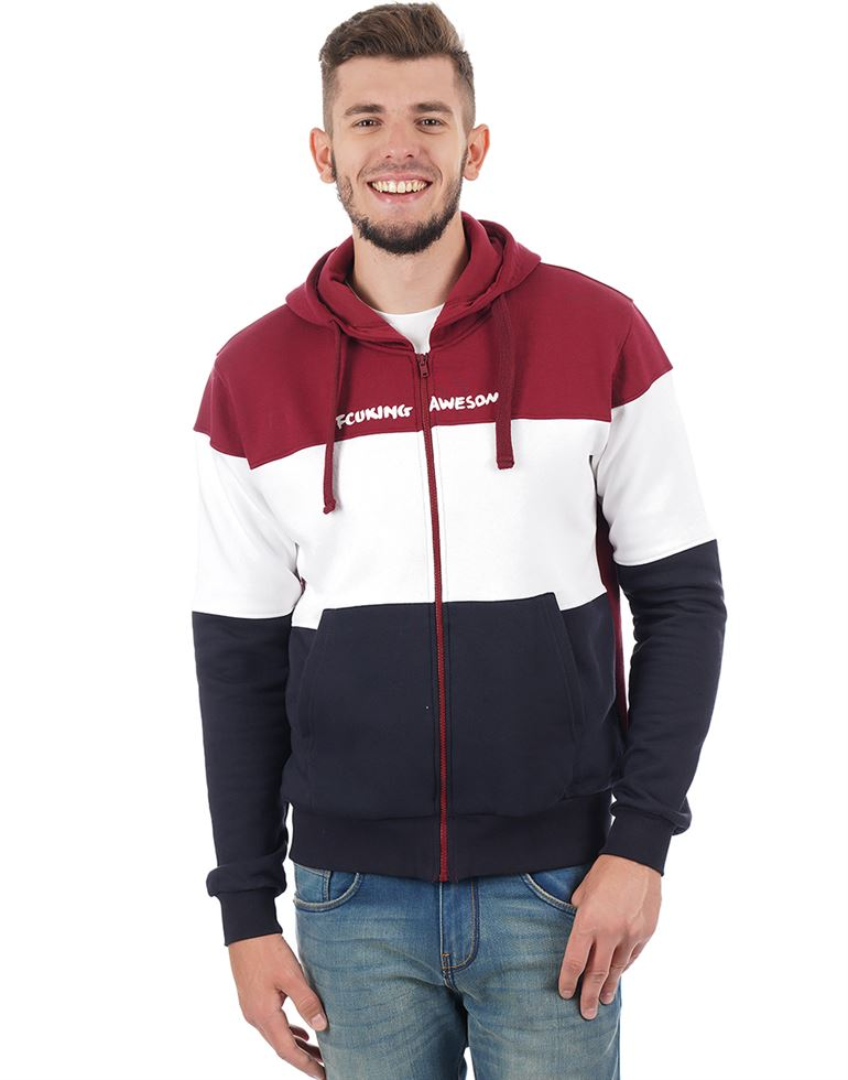 French Connection Men Casual Color Block Sweatshirt