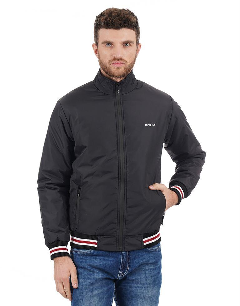 French Connection Men Black Jacket