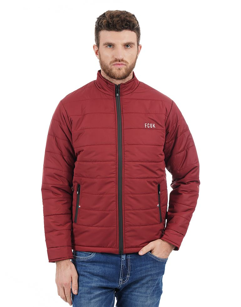 French Connection Men Maroon Jacket
