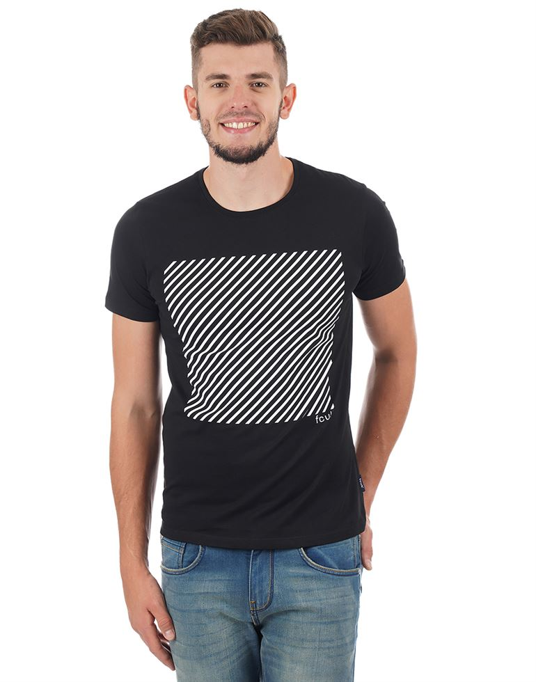 French Connection Men Casual Chest Print T-shirt