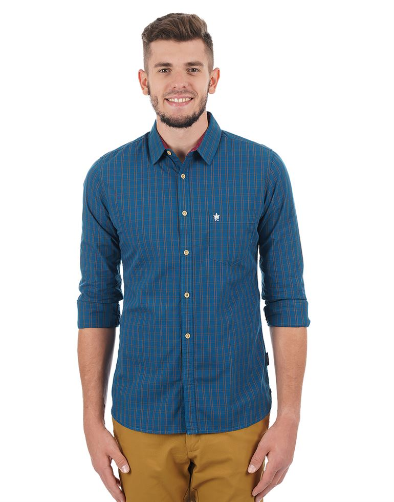 French Connection Men Casual Checkered Shirt