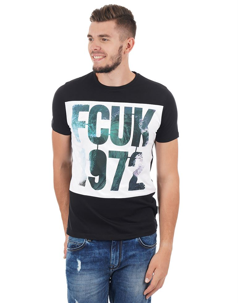 French Connection Men Casual Wear Printed T-Shirt