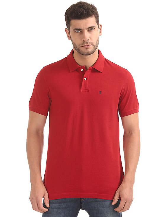 Izod Men Solid Casual Wear T-Shirt