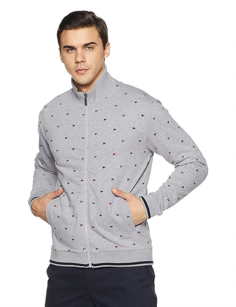 Izod Men Printed Casual Wear Sweatshirt