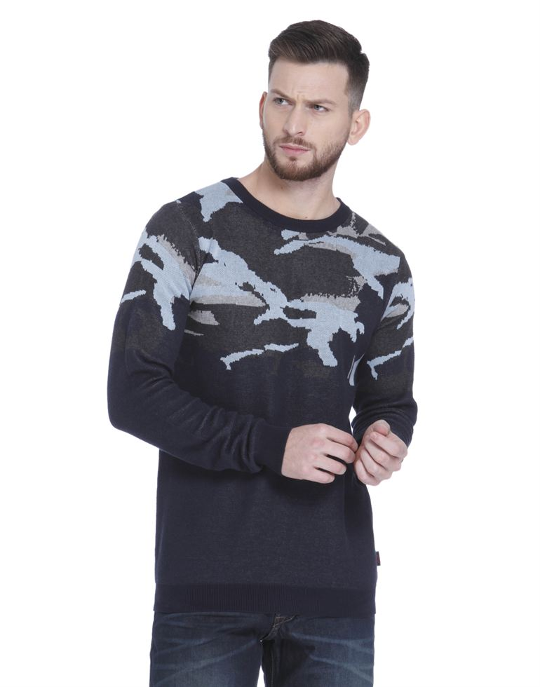 Jack & Jones Men Navy Sweater