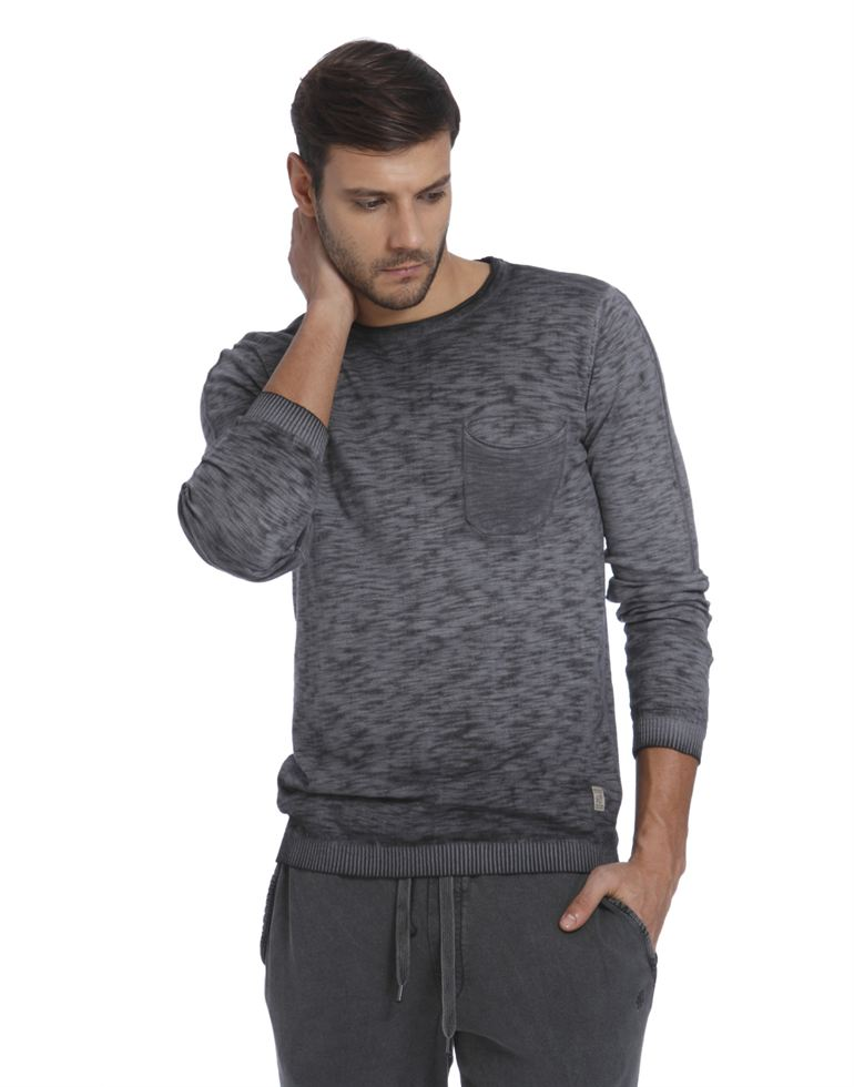 Jack & Jones Men Grey Sweater