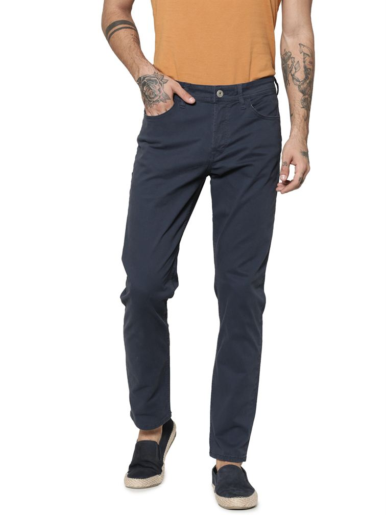 Jack & Jones Men Casual Navy Pants